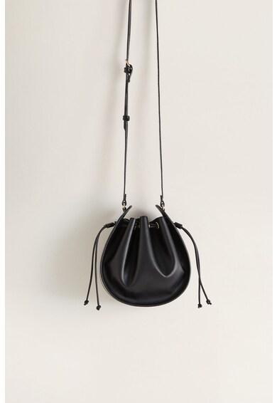 Mango Geanta bucket de piele ecologica cu garnituri cu model reptila Arume Femei