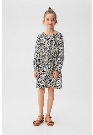 Mango Разкроена рокля с животинска щампа Момичета