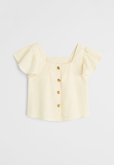 Mango Памучна блуза Moni Момичета
