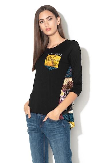 DESIGUAL Bluza cu terminatie asimetrica si diverse modele Lindsey Femei