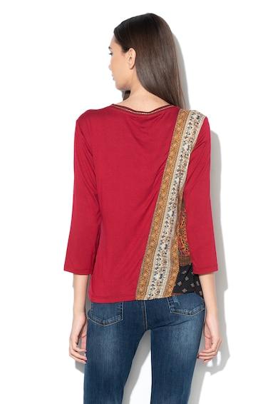 DESIGUAL Bluza cu model floral si strasuri Femei