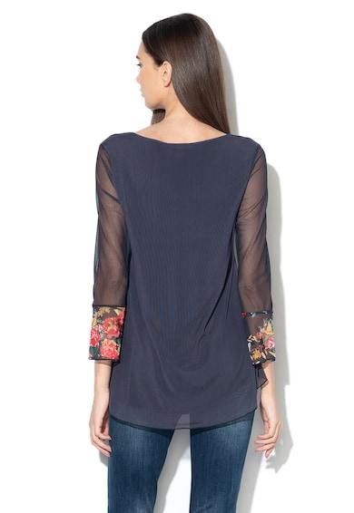 DESIGUAL Bluza de plasa cu decolteu in V si imprimeu floral O'Hara Femei