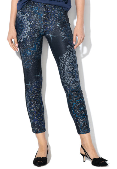 DESIGUAL Панталон Yallon по тялото с фигурален десен Жени