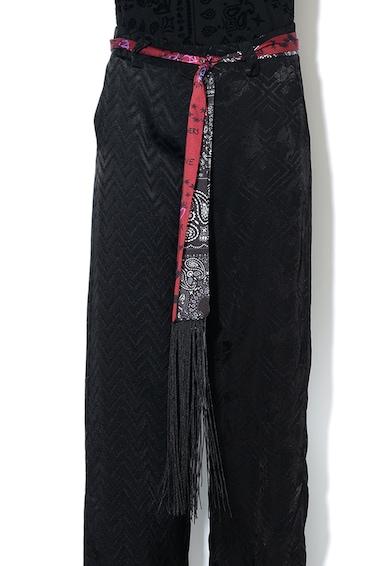 DESIGUAL Pantaloni evazati din material terry, cu cordon in talie Femei