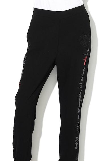 DESIGUAL Втален панталон Pia с текстова шарка Жени