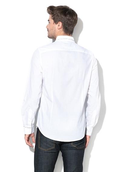 DESIGUAL Tobias szűk fazonú ing feliratos részletekkel férfi
