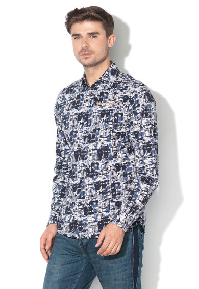 DESIGUAL Camasa slim fit cu model abstract Emil Barbati