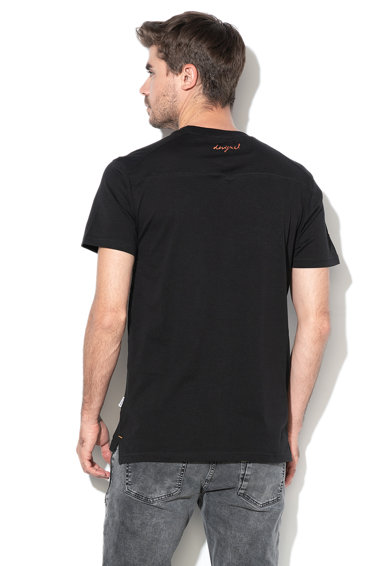 DESIGUAL Tricou cu aplicatie logo David Barbati