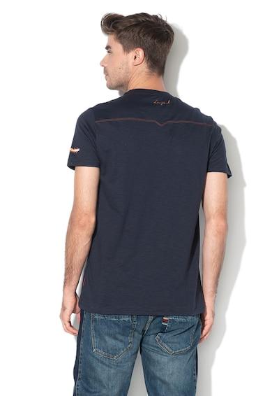 DESIGUAL Tricou cu aplicatii pe piept Ernesto Barbati