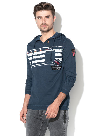 DESIGUAL Emerson kapucnis pulóver foltzsebbel férfi