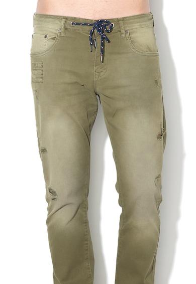 DESIGUAL Pantaloni cu rupturi decorative si snur pentru ajustare Ferrer Barbati