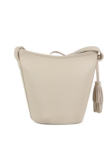 Laura Ashley Geanta bucket de piele ecologica, cu canaf Femei
