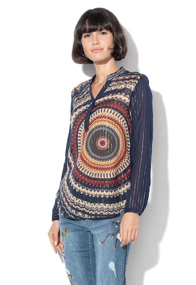 DESIGUAL Bluza tip tunica cu motive mandala Larson Femei