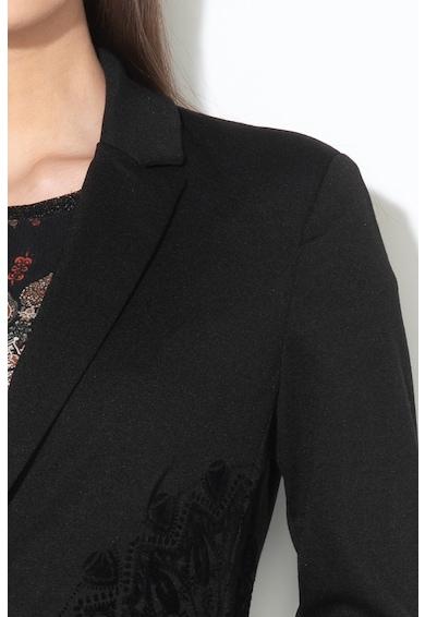DESIGUAL Kendall blézer bársonyos mandala motívumokkal női