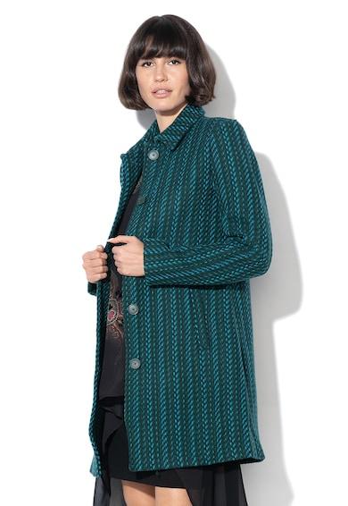 DESIGUAL Palton din amestec de lana cu nasturi Noa Femei