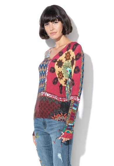 DESIGUAL Bluza din amestec de modal, cu model colorblock Femei