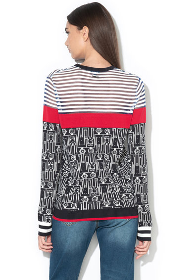 DESIGUAL Пуловер Los Angeles с фигурален десен Жени