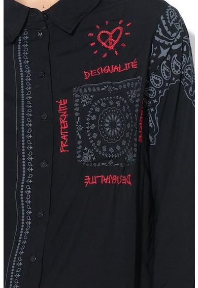 DESIGUAL Camasa asimetrica cu buzunar pe piept Sally Femei
