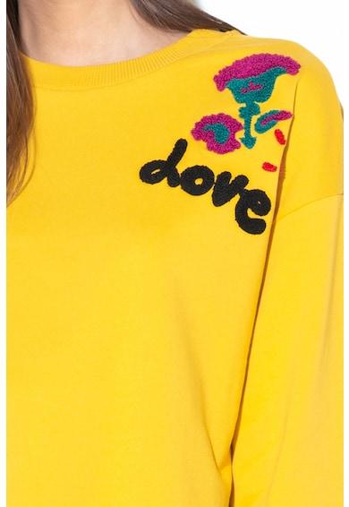 DESIGUAL Bluza sport cu aplicatii din material terry London Femei