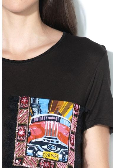 DESIGUAL Tricou cu aplicatii decorative Norah Femei