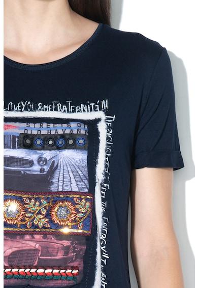 DESIGUAL Tricou cu aplicatii decorative Berlin Femei