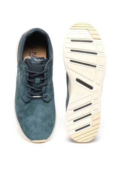 Pepe Jeans London Спортни обувки от набук с лого Мъже