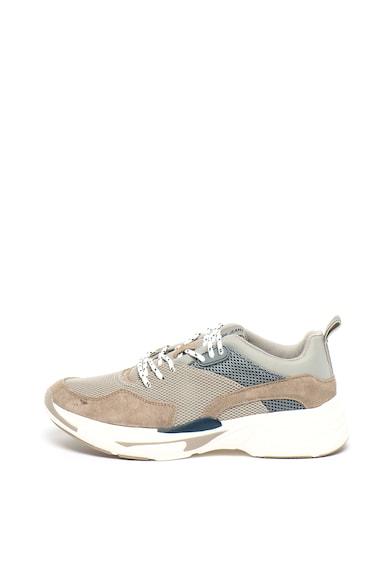 Pepe Jeans London Спортни обувки Sinyu от мрежа и велур Мъже