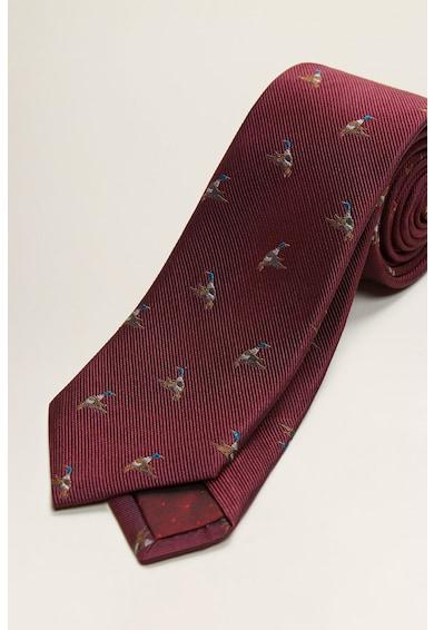 Mango Копринена вратовръзка с шарка Мъже