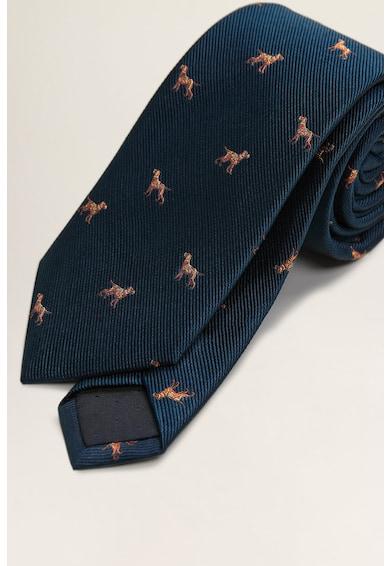 Mango Копринена вратовръзка с животни Мъже