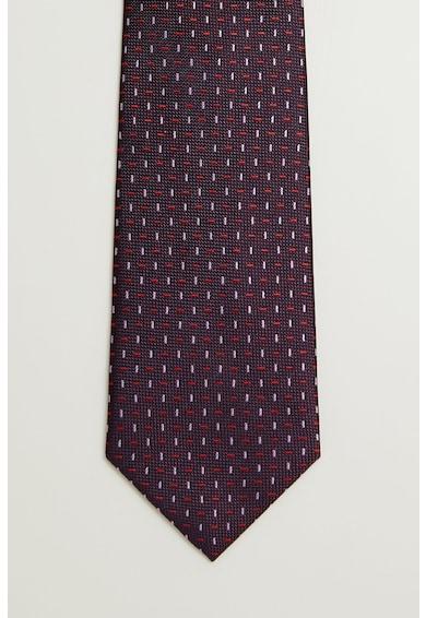 Mango Вратовръзка Lines с фигурална шарка Мъже