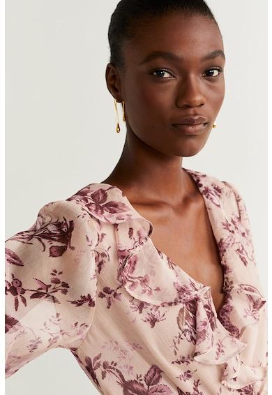 Mango Rochie cu imprimeu floral si decolteu cache-coeur Star Femei