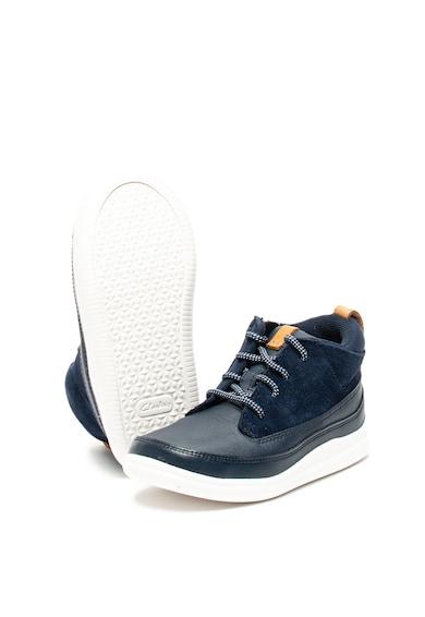 Clarks Pantofi de piele, cu garnituri de piele intoarsa Cloud Air Fete