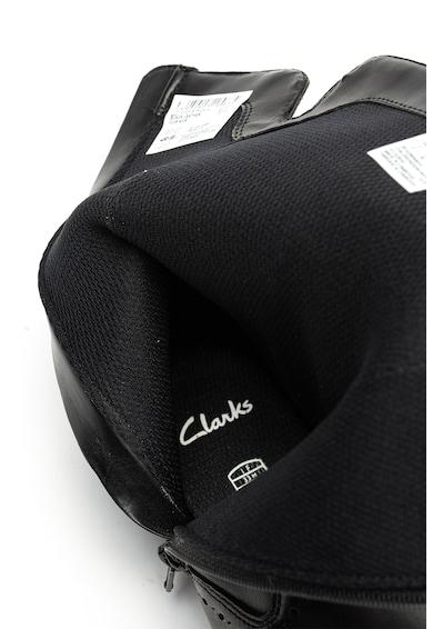 Clarks Cizme de piele cu detalii brogue Fete