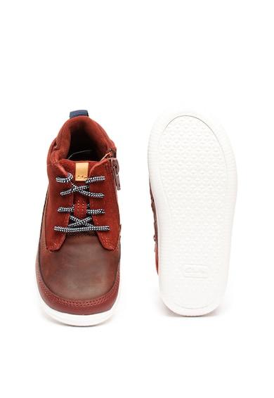 Clarks Pantofi sport inalti cu insertii de piele intoarsa Cloud Air Baieti