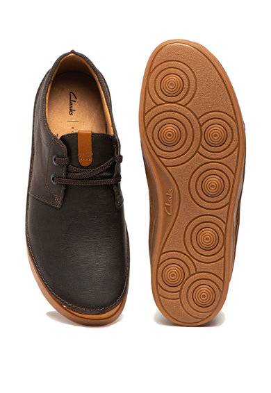 Clarks Pantofi casual de piele, cu siret si activeAir Oakland Barbati
