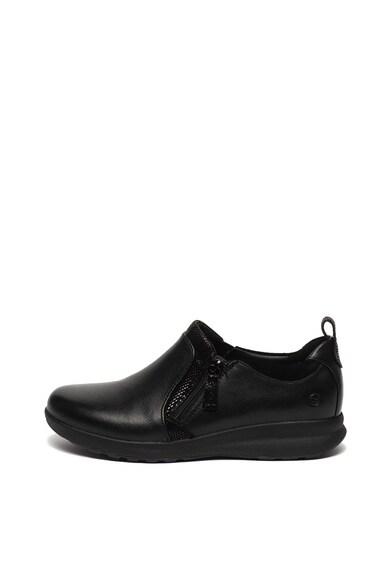 Clarks Pantofi de piele, cu fermoar Un Adorn Femei