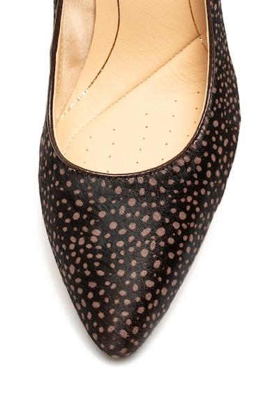 Clarks Pantofi de piele cu par scurt, cu toc inalt Laina Rae Femei