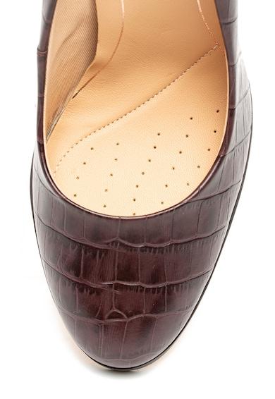 Clarks Pantofi de piele, cu model piele de crocodil Kaylin Cara Femei