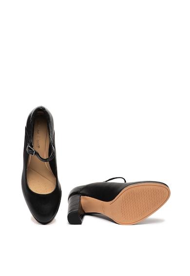Clarks Кожени обувки Kaylin Alba Mary Jane с масивен ток Жени