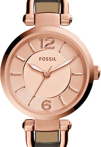 Fossil Часовник Georgia с кожена каишка Жени
