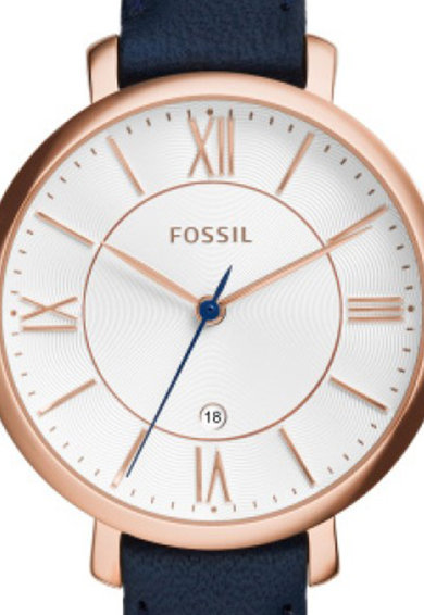 Fossil Ceas analog cu carcasa rotunda Jacqueline, Bleumarin Femei