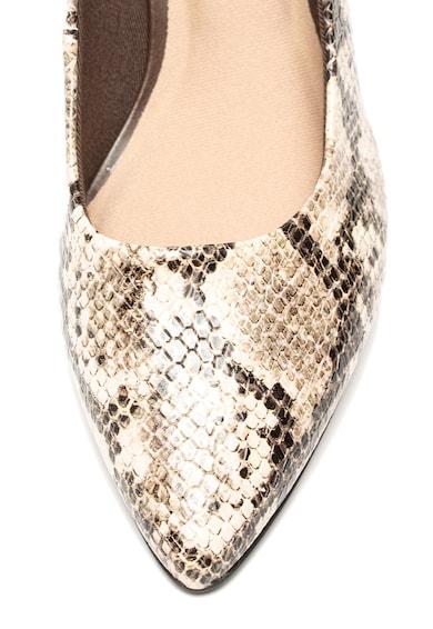 Clarks Pantofi de piele ecologica, cu imprimeu piele de sarpe Linvale Jerica Femei