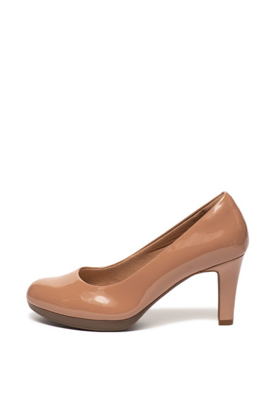 Clarks Обувки Adriel Viola от еко кожа с висок ток Жени