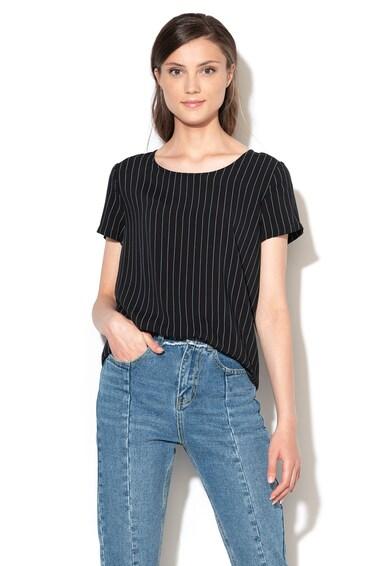 Only Bluza cu imprimeu si decupaj pe partea din spate First Mix Femei