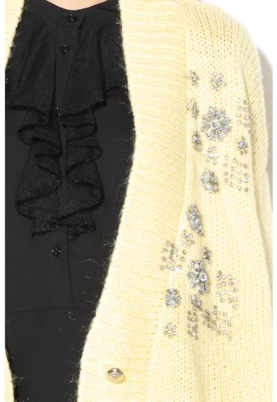 Silvian Heach Collection Thenia kardigán strasszköves rátétekkel női