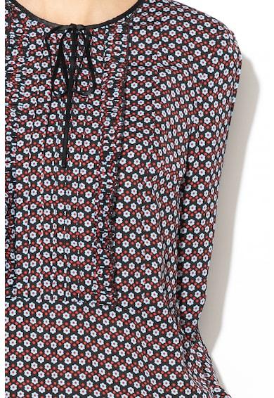 Silvian Heach Collection Bluza cu model floral, funda si volane pe piept Douar Femei