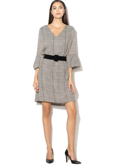 Silvian Heach Collection Rochie cu model houndstooth si maneci clopot Radiant Femei