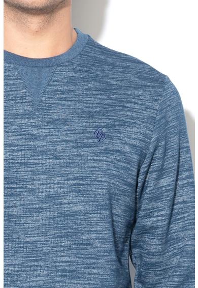 BLEND Bluza sport cu decolteu la baza gatului si logo brodat Barbati