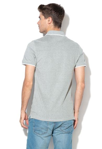 BLEND Tricou polo slim fit din pique, cu logo brodat Barbati