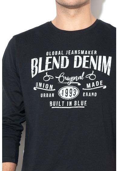 BLEND Bluza regular fit, cu imprimeu text Barbati